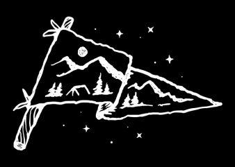 Camp Flag t shirt vector file