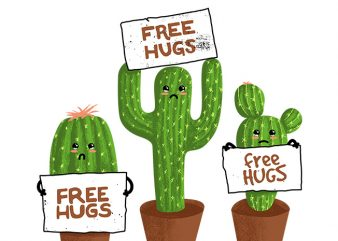 Free Hugs (Cactus) buy t shirt design
