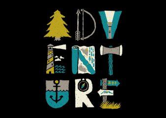Adventure Typo t-shirt design png