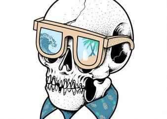 Skull Holiday t shirt design