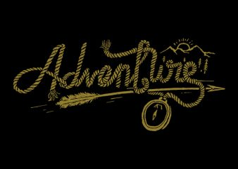 Adventure Rope t shirt design for download