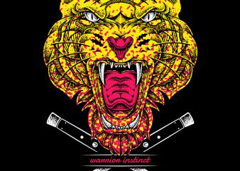 Warrior Instinct t shirt design for sale
