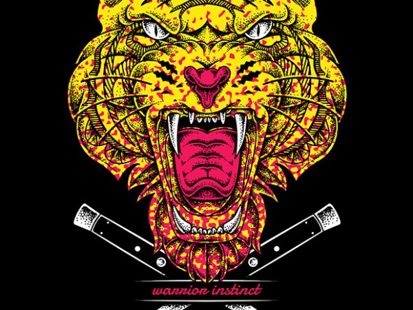 Warrior Instinct buy t shirt design
