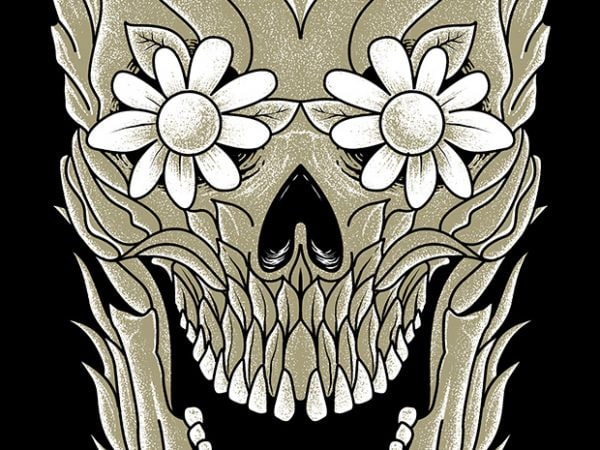 Skull Plants t shirt design for purchase