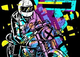 Pop Biker t shirt design for download