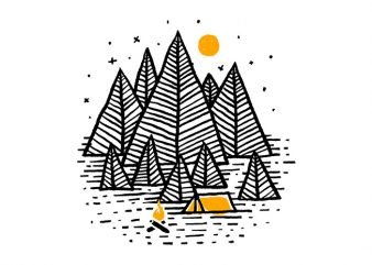 Happy Camper graphic t shirt