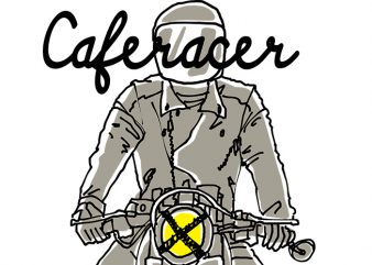 Caferacer Custom 2 t shirt vector file