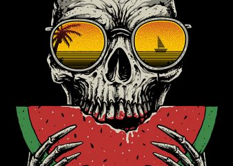 Watermelon Skull buy t shirt design