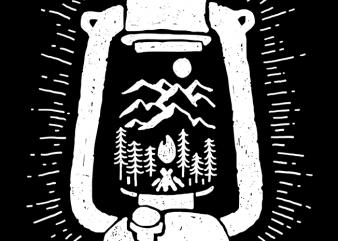 Lantern t shirt design for sale