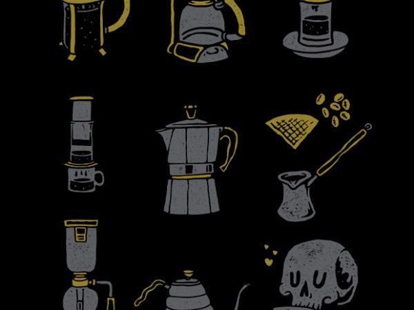Coffee Equipment buy t shirt design artwork