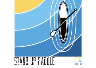 Stand up Paddle buy t shirt design for commercial use