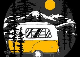 Camper Van buy t shirt design for commercial use