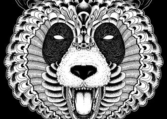 Panda t-shirt design for sale