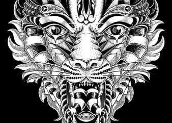 Roar t-shirt design for commercial use