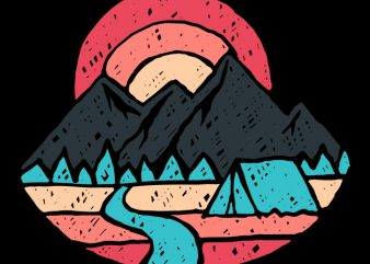 Camp River design for t shirt