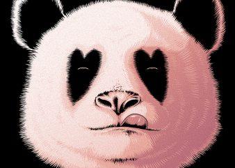 Panda in Love buy t shirt design