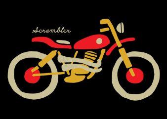 Scrambler t shirt template vector