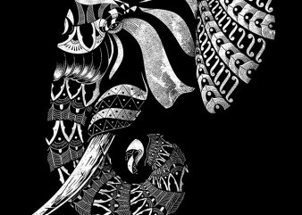 Elephant Ornate t-shirt design png