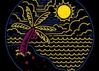 Beach graphic t-shirt design