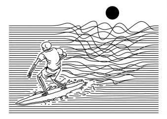Surf Line t shirt design png