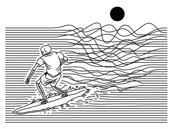 Surf Line t shirt design png