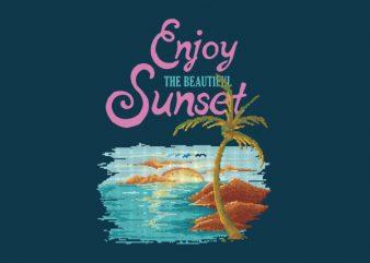Beautiful Sunset tshirt design
