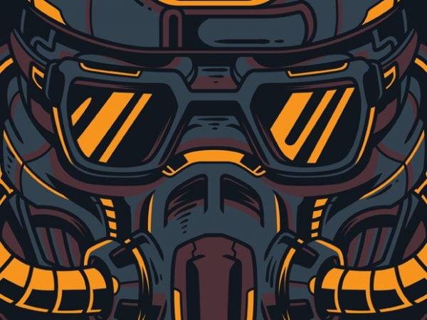 Dark Future t shirt vector illustration