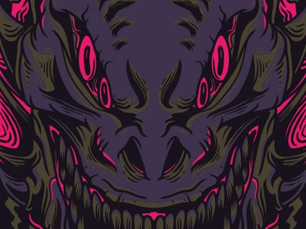 Wrath Monster t shirt design for sale