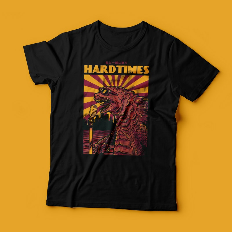 Hardtimes t-shirt designs for merch by amazon