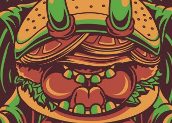 Yoga Burger print ready vector t shirt design