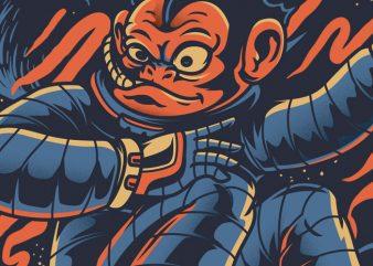 Monkey Skate vector shirt design