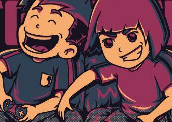 Lets Play Together vector t shirt design artwork