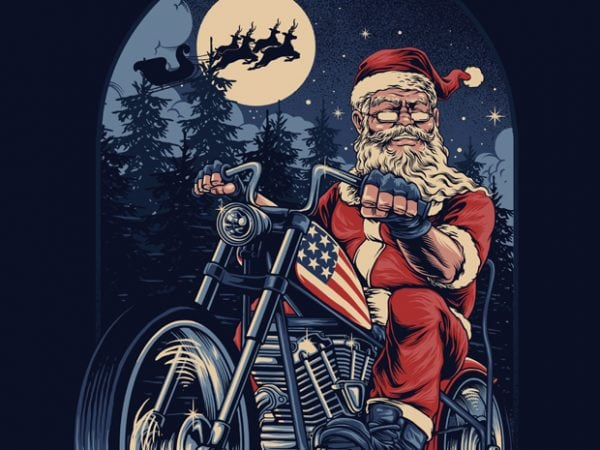 CHOPPER SANTA T-shirt Design