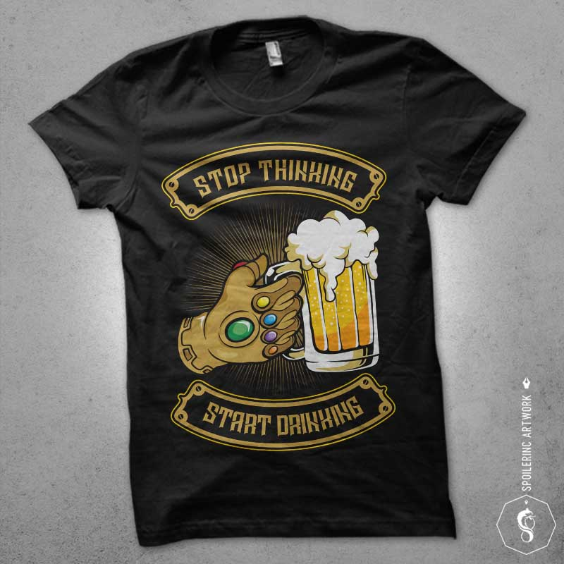 drink on the space vector t shirt design