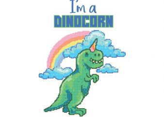 Dinocorn tshirt design