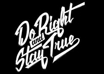 Do Right print ready vector t shirt design