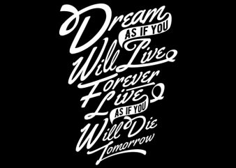 Dream t shirt design png
