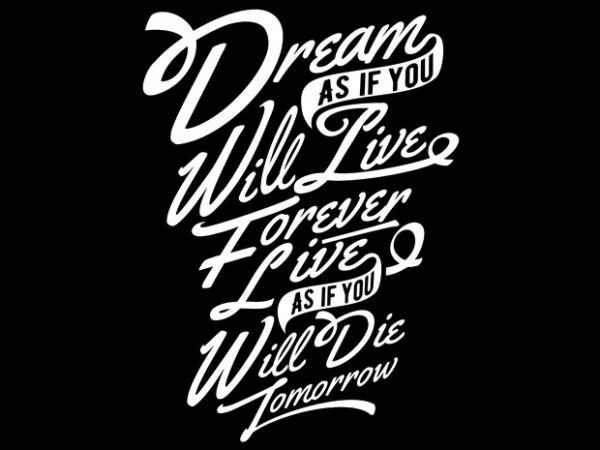 Dream t shirt design png