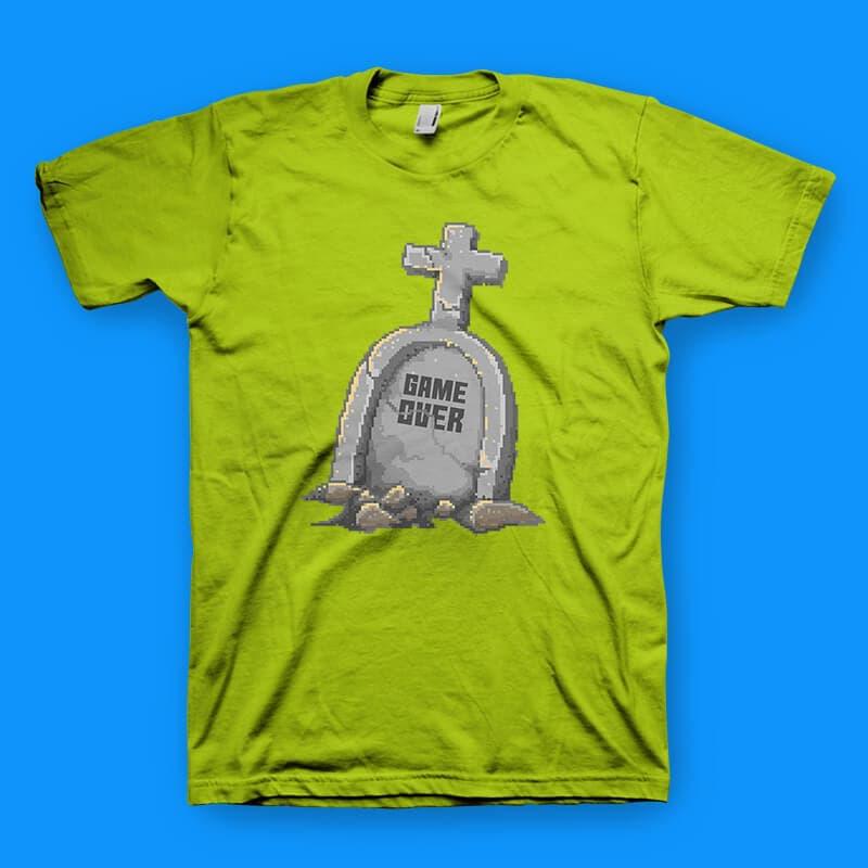 Game Over tshirt design vector t shirt design