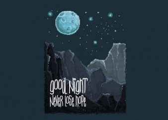 Good Night Vector t-shirt design