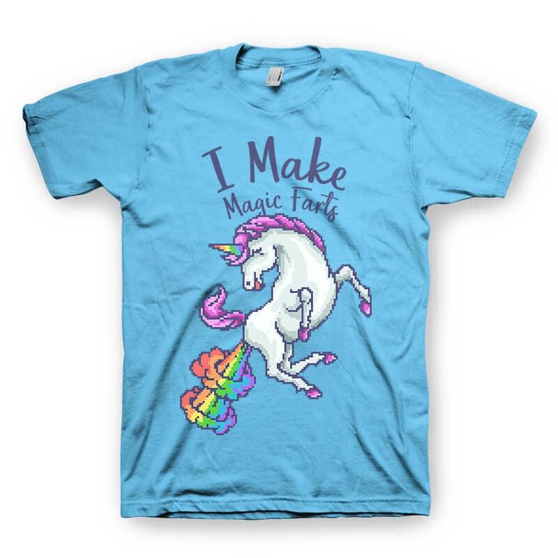 I Make Magic Farts Graphic t-shirt design buy t shirt design