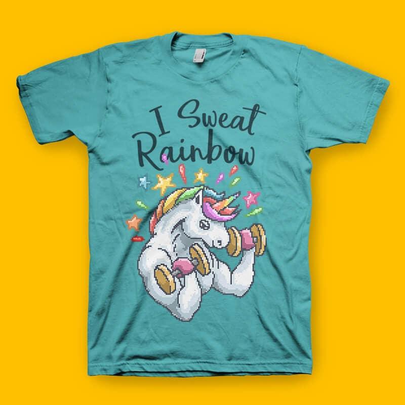 I Sweat Rainbow shirt design commercial use t shirt designs