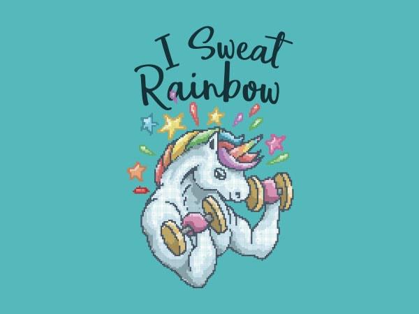 I Sweat Rainbow shirt design