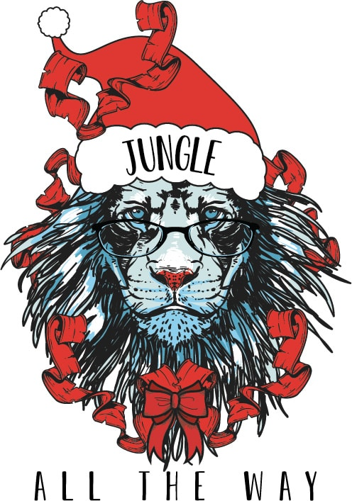 Jungle all the way t shirt designs for print on demand