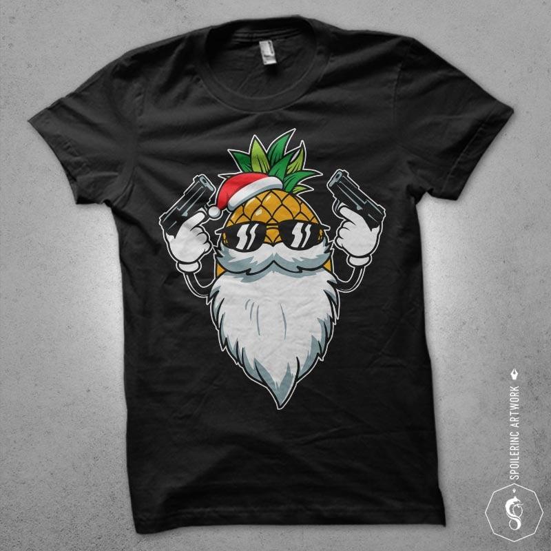 killer santa t shirt designs for sale