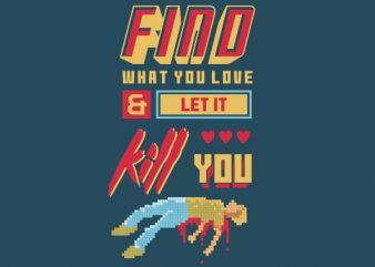 Love Kill Graphic t-shirt design