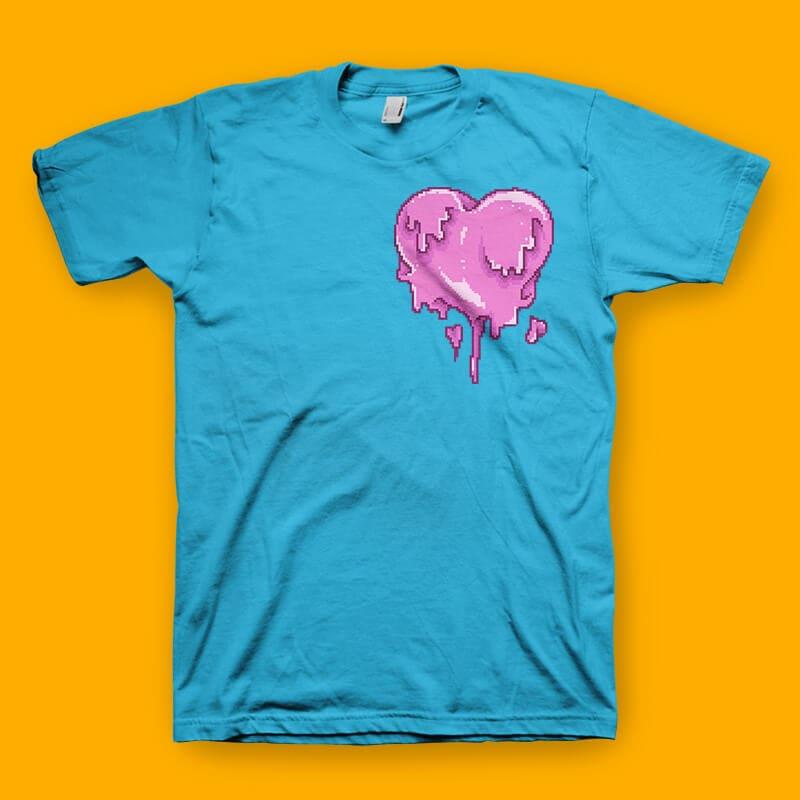 Love Melt Graphic t-shirt design tshirt design for sale
