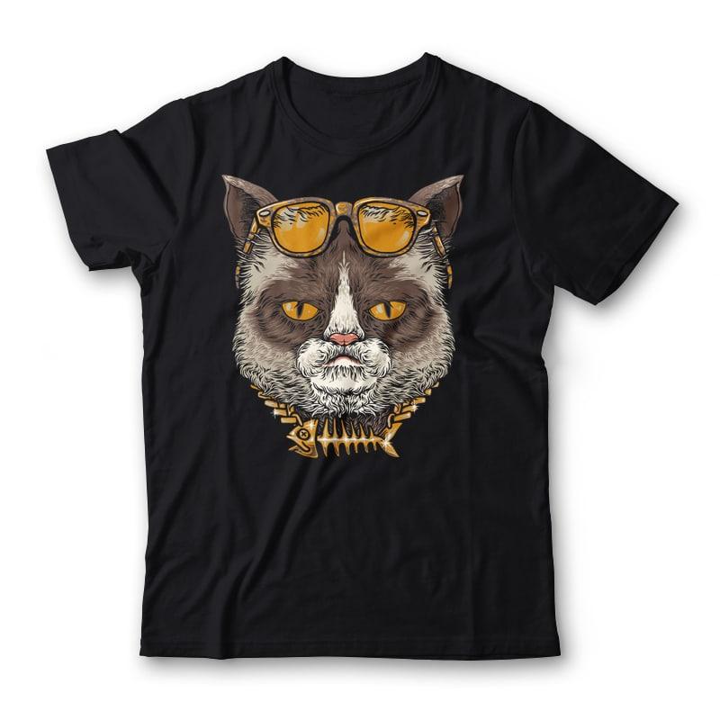 Cool Cat Tshirt Design tshirt designs for merch by amazon