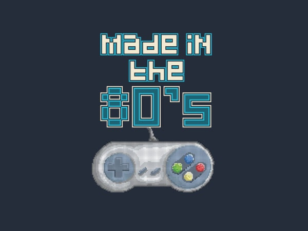 Made In The 80's tshirt design