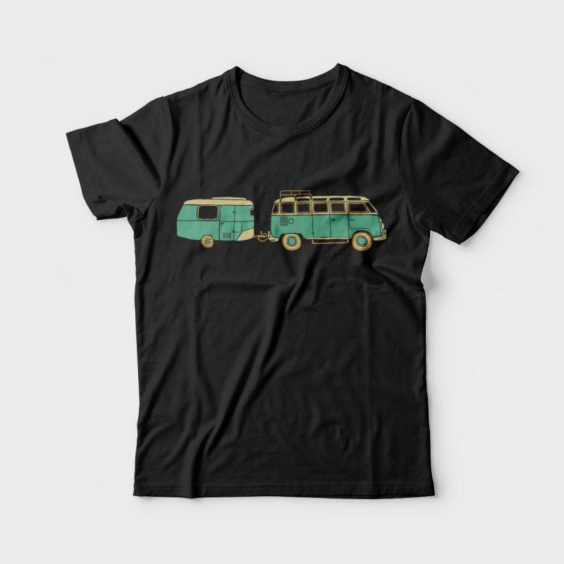 Adventure Car t-shirt designs for merch by amazon